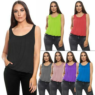 £7.99 • Buy Womens Vest Tops Ladies Summer Holiday Loose Fit Camisole Sleeveless Tank Top