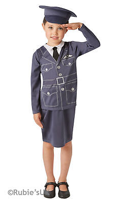 Girls WRAF Book Week Costume Kids Royal Air Force Fancy Dress Outfit.  • 15.99£