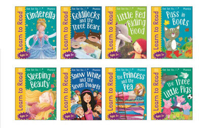 KS1 Age 4-7 Years Learn To Read Phonics 8 Book Wipe Clean Activity Book Set • 14.37£