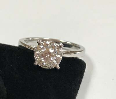 $750 • Buy 18K White Solid Gold And Diamond Wedding Ring!!