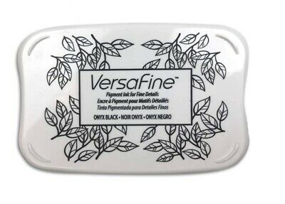 Versafine Tsukineko Onyx Black - VF82 Fine Details Pigment Ink Pad Fast Drying • 5.95£