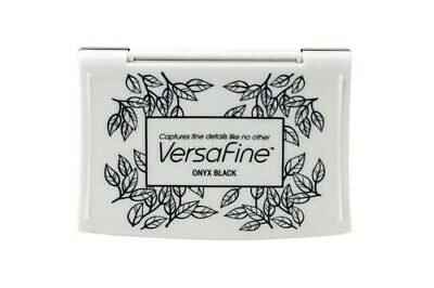 Versafine Tsukineko Onyx Black - VF82 Fine Details Pigment Ink Pad Fast Drying • 5.99£