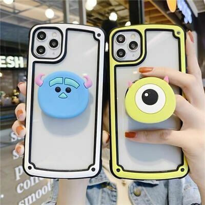 AU12.20 • Buy For IPhone 11 Pro XS Max 7 8+ Cartoon Disney Mike Sulley Stand Holder Phone Case