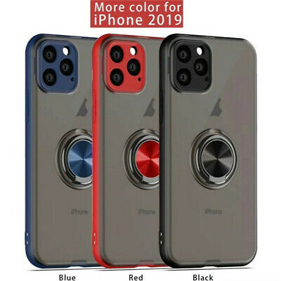 AU15.59 • Buy For IPhone 11 Pro Max XS XR 7 8+ Plus Ring Holder Case Cover With Lens Protector