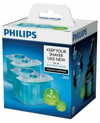 AU33.90 • Buy 2pk Philips JC302-51 Smart Clean System Cleaning Cartridge For Shaver Heads