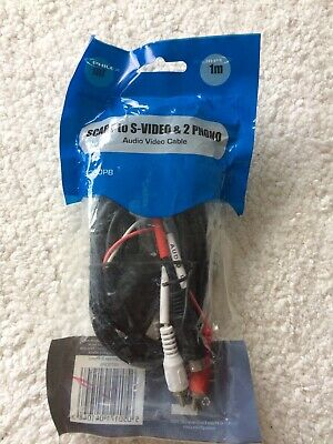 PHILEX SCART To S-video & 2 Phono Cable • 2£