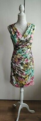 $ CDN20.69 • Buy ARIELLA London Floral Summer Dress Size UK 12 EU 38 Ruched Front Stretchy Lined