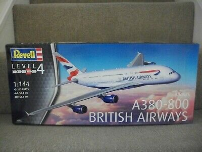 Revell 03922 1:144 Scale British Airways Airbus A380-800 Model Kit • 32.50£