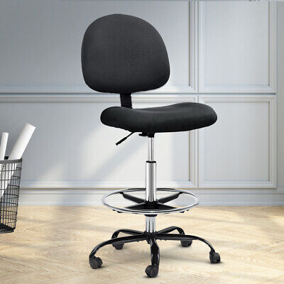 AU79.90 • Buy Artiss Office Chair Veer Drafting Chairs Stool Computer Chair Footrest Black