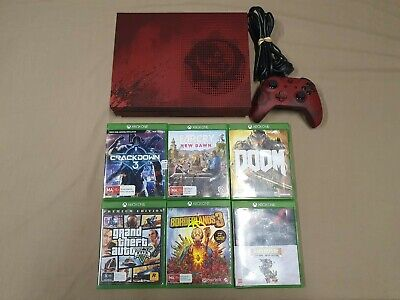 AU599 • Buy Xbox One S Gears Of War 4 2TB Limited Edition  Console And Games Bundle