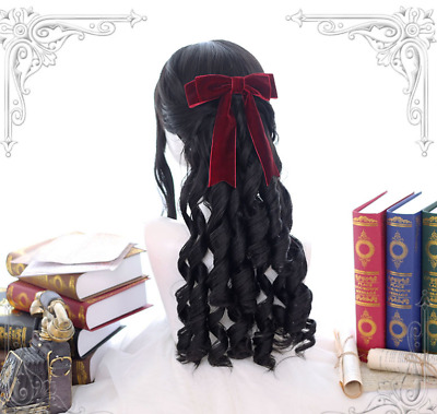 Sweet Girls Gradient Kawaii Lolita Curly Wig Cosplay Party Show Long Hair Ting1 • 27.33£