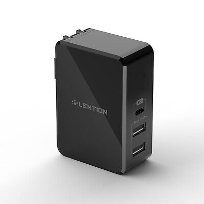 AU29.35 • Buy LENTION 3-Port 45W QC 3.0 USB C PD USB A Wall Charger Adapter For IPhone Samsung