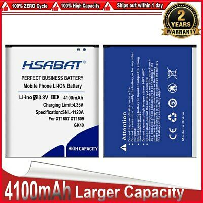 AU24.49 • Buy HSABAT GK40 Replacement Accumulator 4100mAh For MOT1609BAT M0T1609BAT Battery Fo