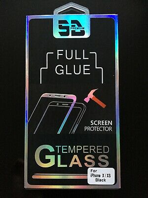 For Apple IPhone X XS Tempered Glass Screen Protector 5D • 2.99£