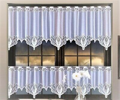 £4.80 • Buy Kitchen Curtains Cafe Net Curtain Lace White Window Decor Sold By The Metre