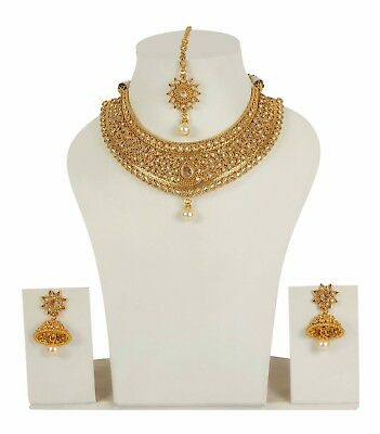 $69 • Buy Indian Bollywood Necklace Set Wedding Gold Plated Earring Fashion Women Jewelry