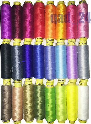 £1.99 • Buy Cotton Sewing Thread Poly Hammer Colour Strong Quality Reel Spool Pure 180 Metre