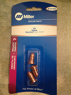 $16.99 • Buy Item 117-Miller 249928 Plasma Cutting Tips, Spectrum 625X-TREME, 3-Pack
