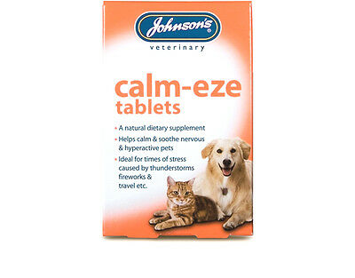 £4.05 • Buy JOHNSONS Calm-Eze Tablets Suitable For Cats & Dogs