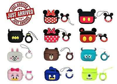 AU9.99 • Buy For Apple Airpod Pro Airpods Cartoon Disney Silicone Case Cover With Keychain