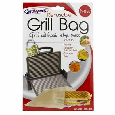 Reusable Grill Bag NO MESS!! Paninis Toasted Sandwiches Meat Fish Sealapack (553 • 2.10£
