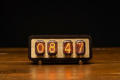 Nixie Tube Clock With IN-12 TUBES IN WOODEN CASE ECO-FRIENDLY • 136.76£