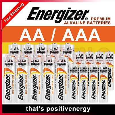 AU15.95 • Buy Genuine Alkaline Energizer Advanced AA AAA 9V Batteries Battery