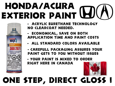 $ CDN39.99 • Buy Honda Acura Do It Yourself, Easy 1k Car Paint Spraycan For Touch Up, Most Colors