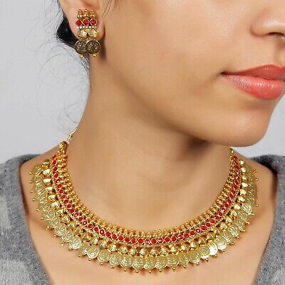 $16.50 • Buy South Indian Bollywood Necklace Gold Plated Wedding Fashion Women Jewelry Set