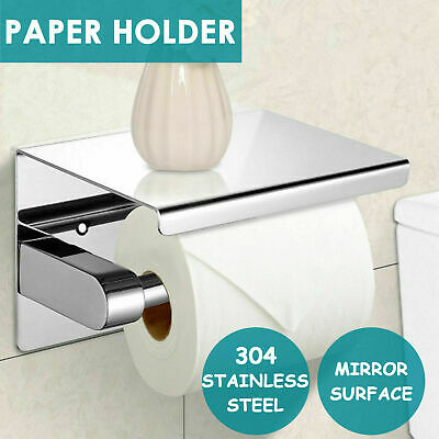 AU21.99 • Buy 304 Stainless Steel Toilet Paper Roll Holder Tissue Bath Accessory Storage Hooks