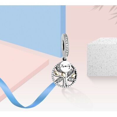 AU27.88 • Buy Authentic S925 FAMILY TREE WITH CUBIC ZIRCONIA Hanging Charm BY PANDORA'S GEMBOX