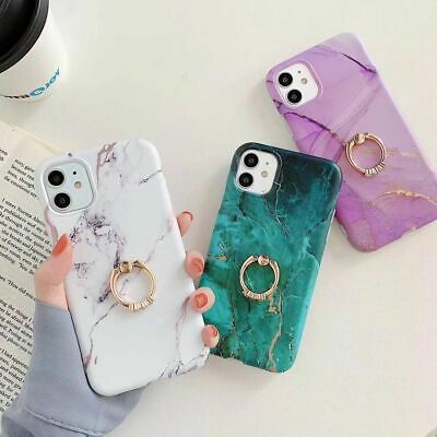 AU9.19 • Buy For IPhone 8 7 Plus 11 XS Max SE Marble Shockproof Protective Case Ring Cover