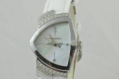 Hamilton Ventura Diamond Lady Women's Watch 25MM Quartz Mop Pearl H242610 • 525.39£