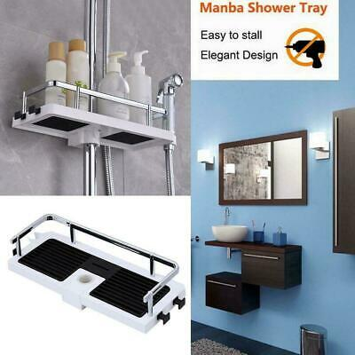 AU14.32 • Buy Bathroom Pole Shelf Shower Storage Caddy Rack Organiser Tray Tools Holder M8N4