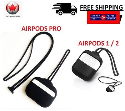 $ CDN6.99 • Buy AirPods Case Strap For Apple Airpods 1/2 & PRO Protective Silicone Cover