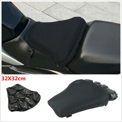 3D Breathable Comfort Inflatable Seat Cushion Pad 32x32cm Motorcycle Accessory • 31.89£