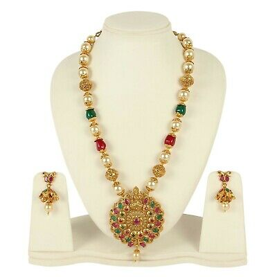 $41 • Buy Indian Necklace Bollywood Style Fashion Gold Plated Wedding Bridal Women Jewelry