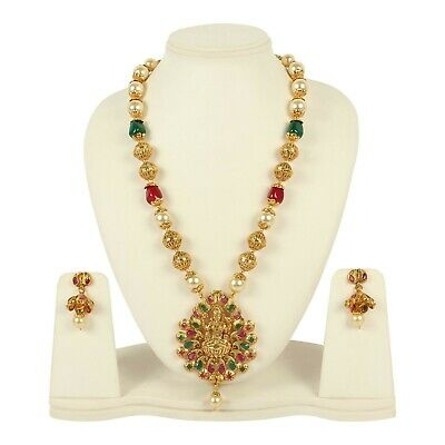 $37 • Buy Indian Traditional Necklace Style Fashion Gold Plated Wedding Bridal Jewelry Set