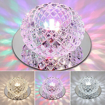 £5.99 • Buy 5w Crystal LED Ceiling Light Chandelier Downlight Aisle Lamp Warm/ Cool White
