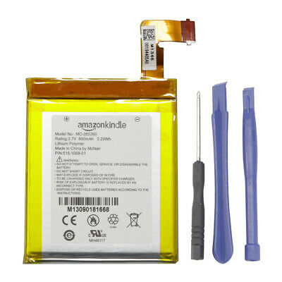 $11.29 • Buy New OEM Battery MC-265360 For Amazon Kindle 4 5 6 D01100 P/N: 515-1058-01 &TOOL