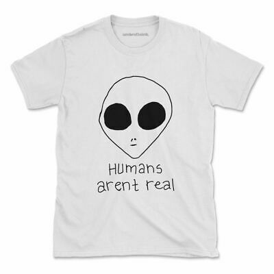 Humans Arent Real Tshirt Funny Aliens Spaceship Womens Mens • 16.05£