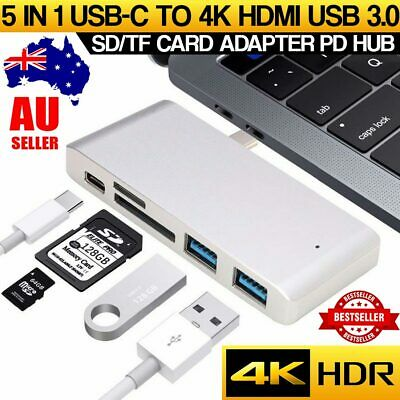 AU17.99 • Buy USB 3.1 Type-C To USB 3.0 HUB USB-C 5IN1 Charging Port Adapter Cable Macbook AIR