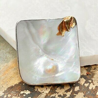 $279.99 • Buy Estate Vintage 14KT Yellow Gold + Sterling Silver Mabe Blister Pearl Pin Pendant