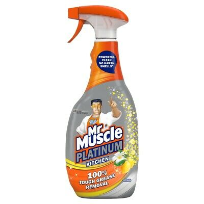 Mr Muscle Platinum Citrus Kitchen Cleaner Spray 750ml Power Foam Degreaser • 9.95£