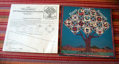 $12 • Buy 1993 Times And Seasons Piecemakers Quilt Calendar With Several BONUS Patterns!