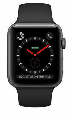 $ CDN369.99 • Buy Apple Watch Series 3 42mm Stainless Steel Case Black Band GPS+Cellular MQK92LL/A