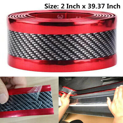 $17.99 • Buy Car Parts Carbon Fiber Warp Door Plate Cover Anti Scratch Sticker Accessories US