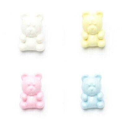 £1.75 • Buy Teddy Bear Baby Buttons Plastic With Shank X5 – Pastel Shades Children Craft