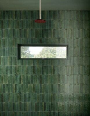 LUME GREEN 6 X 24cm  WALL TILES IN A JOB LOT OF 4 SQ.METERS • 239.99£
