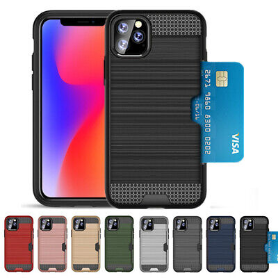 AU14.99 • Buy ShockProof Armor Case For IPhone 11Pro MAX Card Holder Slot XS XR X Case